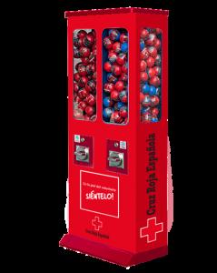 packaging cruz roja maquina de bolas